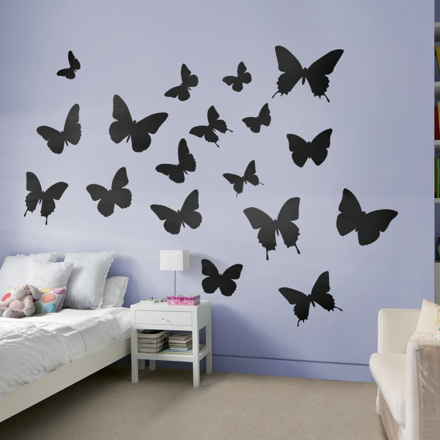 Butterflies - Large Removable Wall Decals Fathead Wall Decal