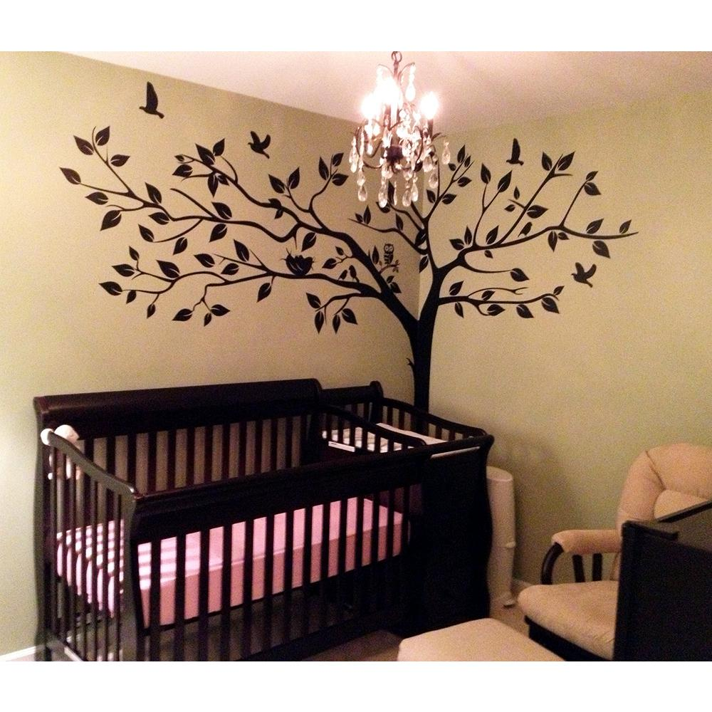 Super Big Tree Removable Wall Decal-PT-0024-1-Ve - The Home Depot