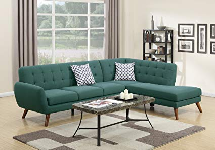 Amazon.com: Modern Retro Sectional Sofa (Laguna): Kitchen & Dining