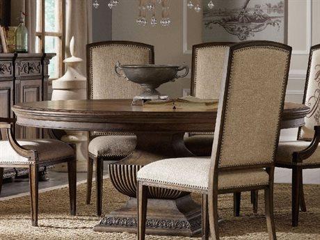 Hooker Furniture Rhapsody Rustic Walnut 60' Wide Round Dining Table  HOO507075203
