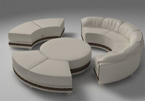 Round sectional sofas 1