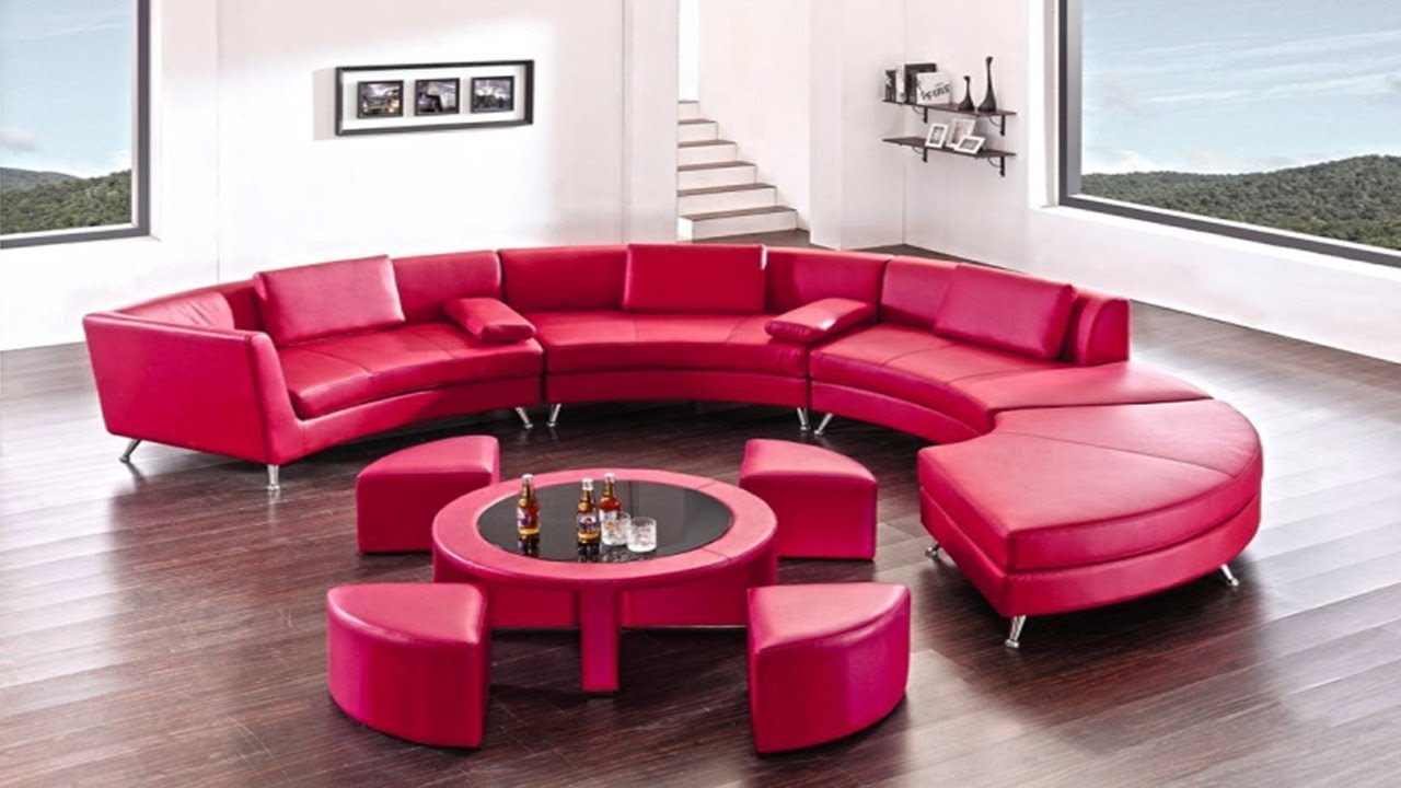 Latest Unique Round Sofa Set designs