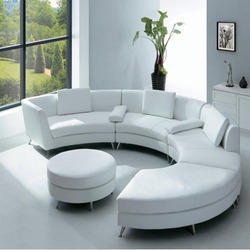 Brown & Grey Boss Round Sofa Set