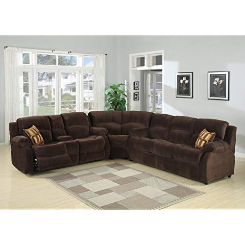 Christies Home Living TRACEY-3PC-SECTIONAL 3 Piece Tracey Fabric  Contemporary Reclining Room Sectional