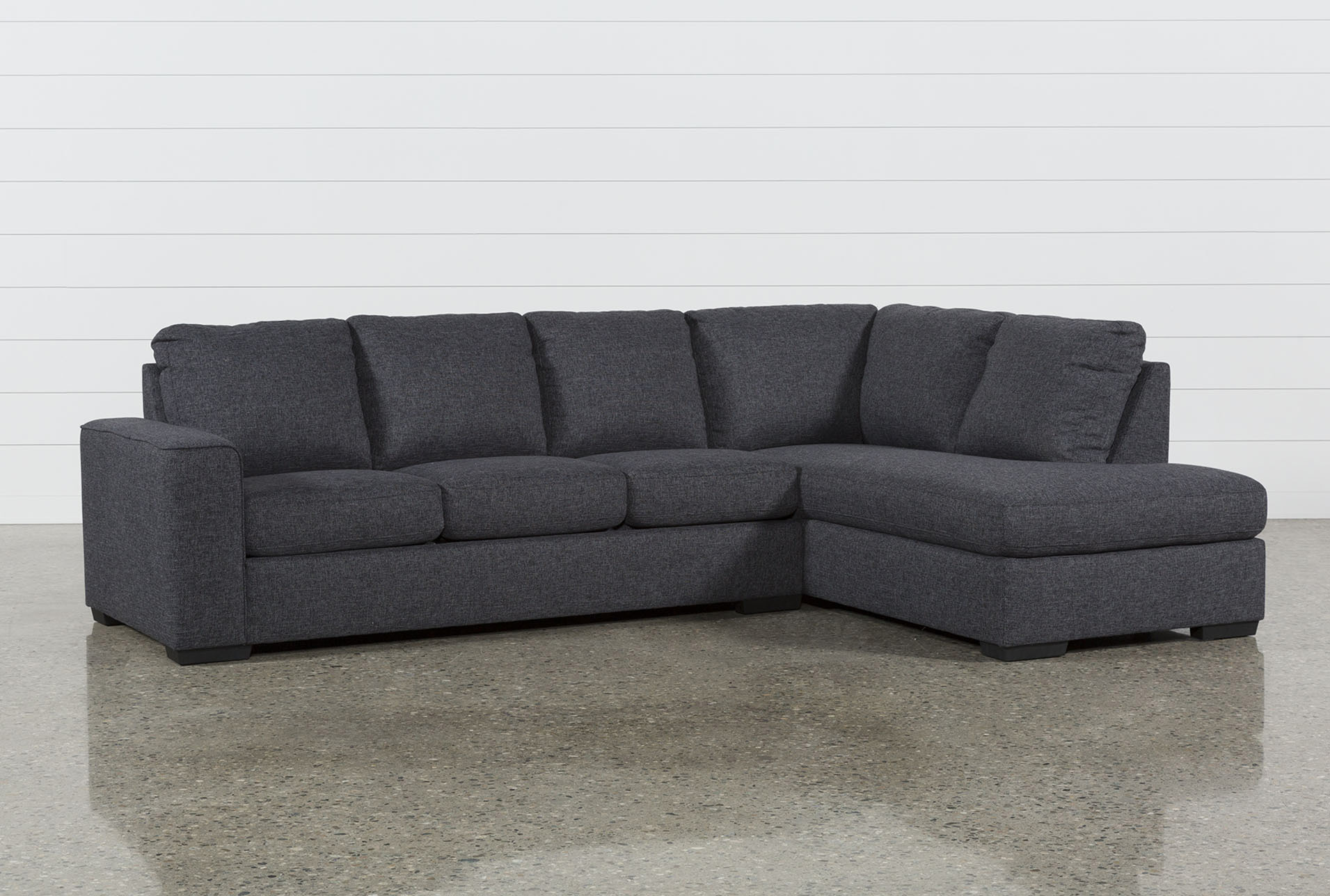 Lucy Dark Grey 2 Piece Sleeper Sectional W/Raf Chaise