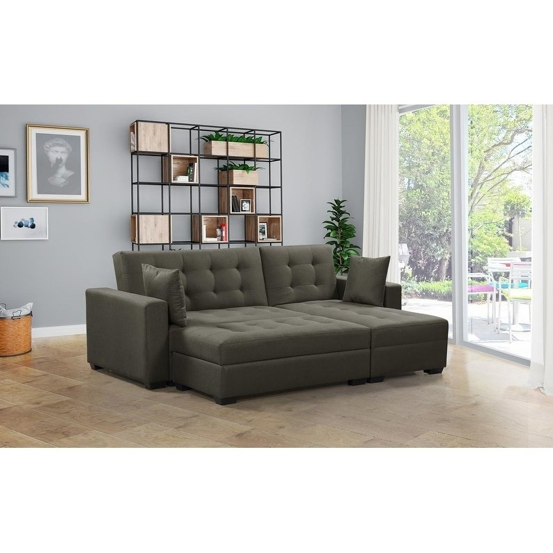 Shop BroyerK 3 pc Reversible Sectional Sleeper Sofa Bed - Free Shipping  Today - Overstock - 26271873