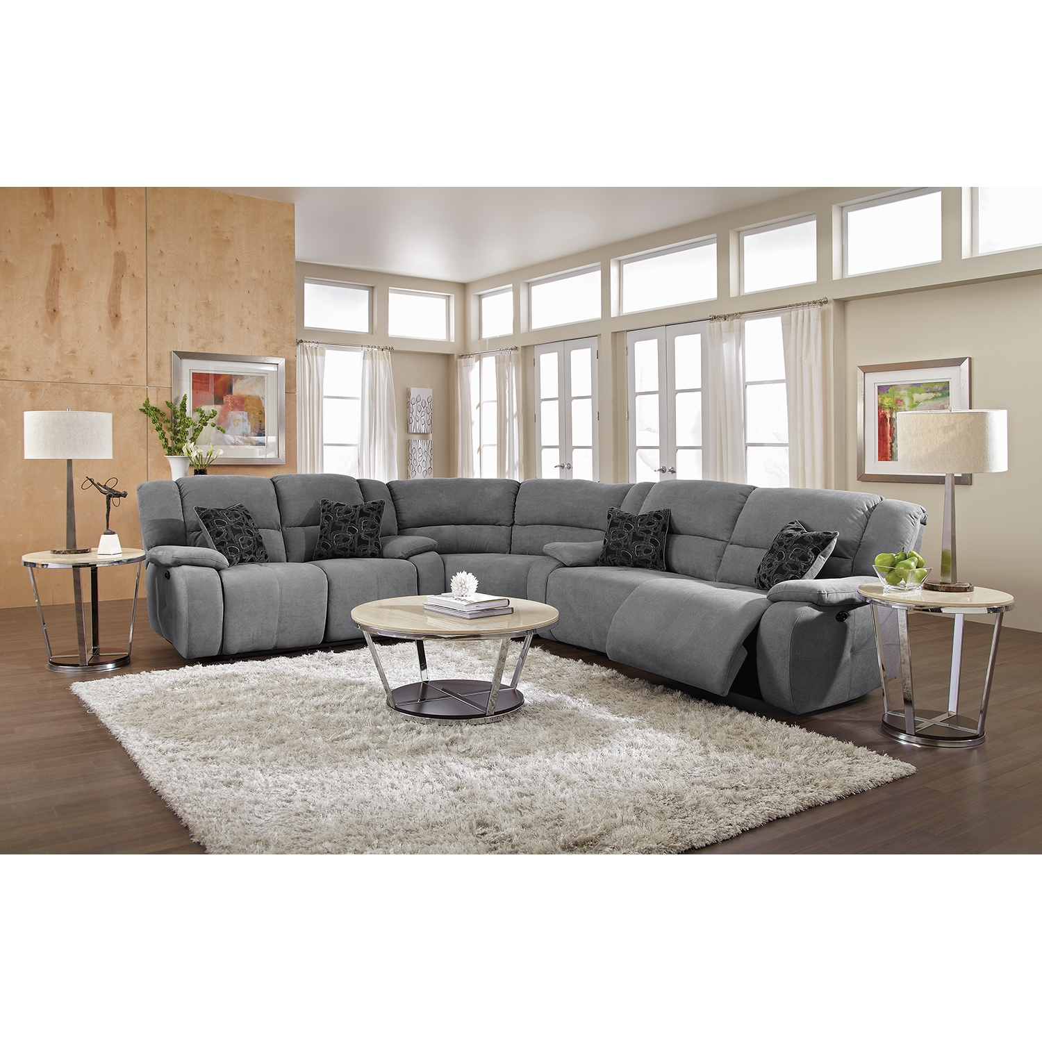 Sectional Couches with Recliners | U Shaped Sectional Sofa | Reclining  Sectional