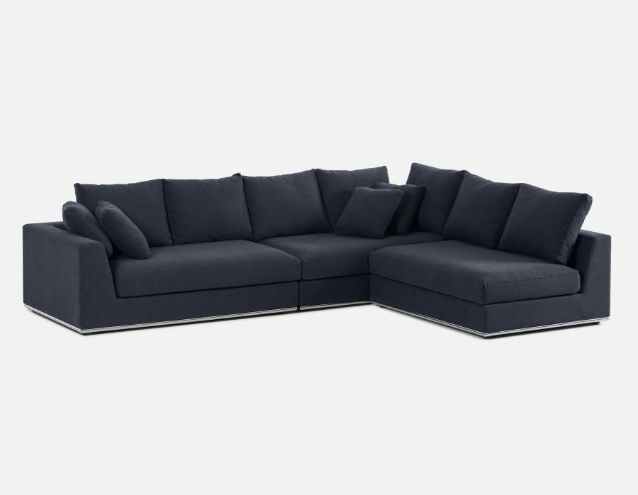HORIZON - Modular Sectional Sofa - Dark Blue