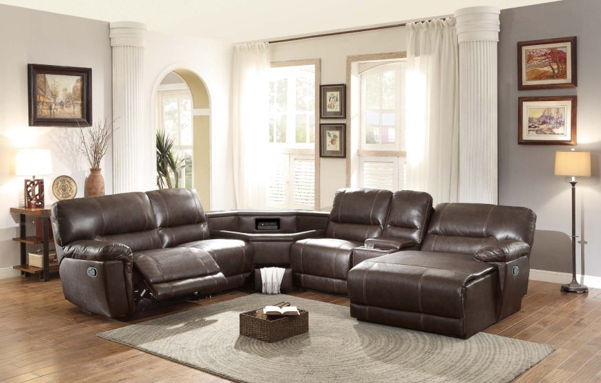 8brown-recliner-sectional-with-table-console-in-center