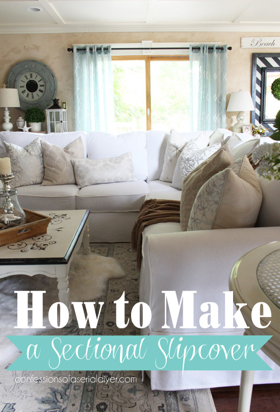 How to make a sectional slipcover, step-by-step with Confessions of a