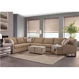 Belfort Essentials Eliot Transitional Sectional Sofa | Belfort Furniture | Sofa  Sectional
