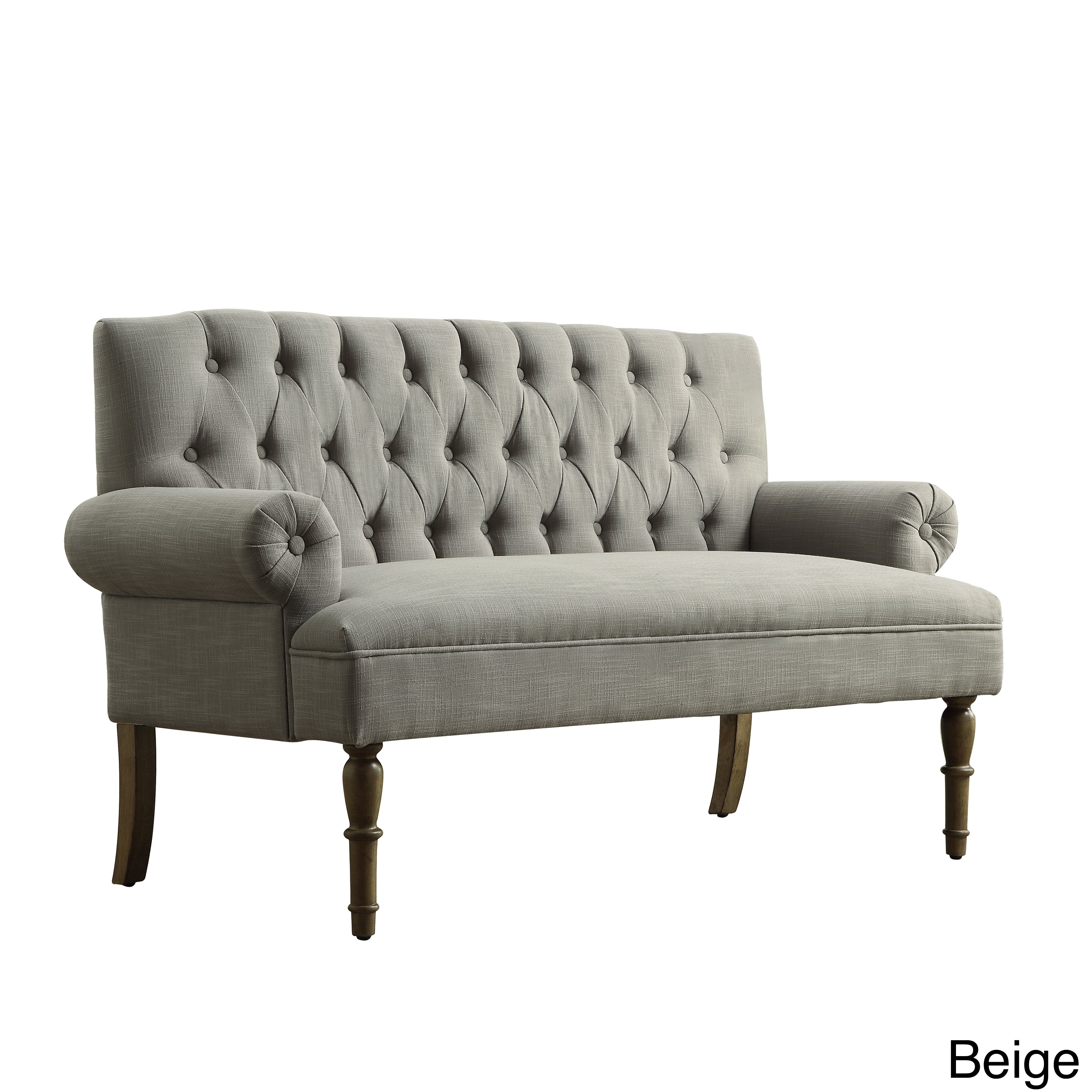 Shop Upholstered Settee Loveseat with Tufting Back - Free Shipping Today -  Overstock - 11542619
