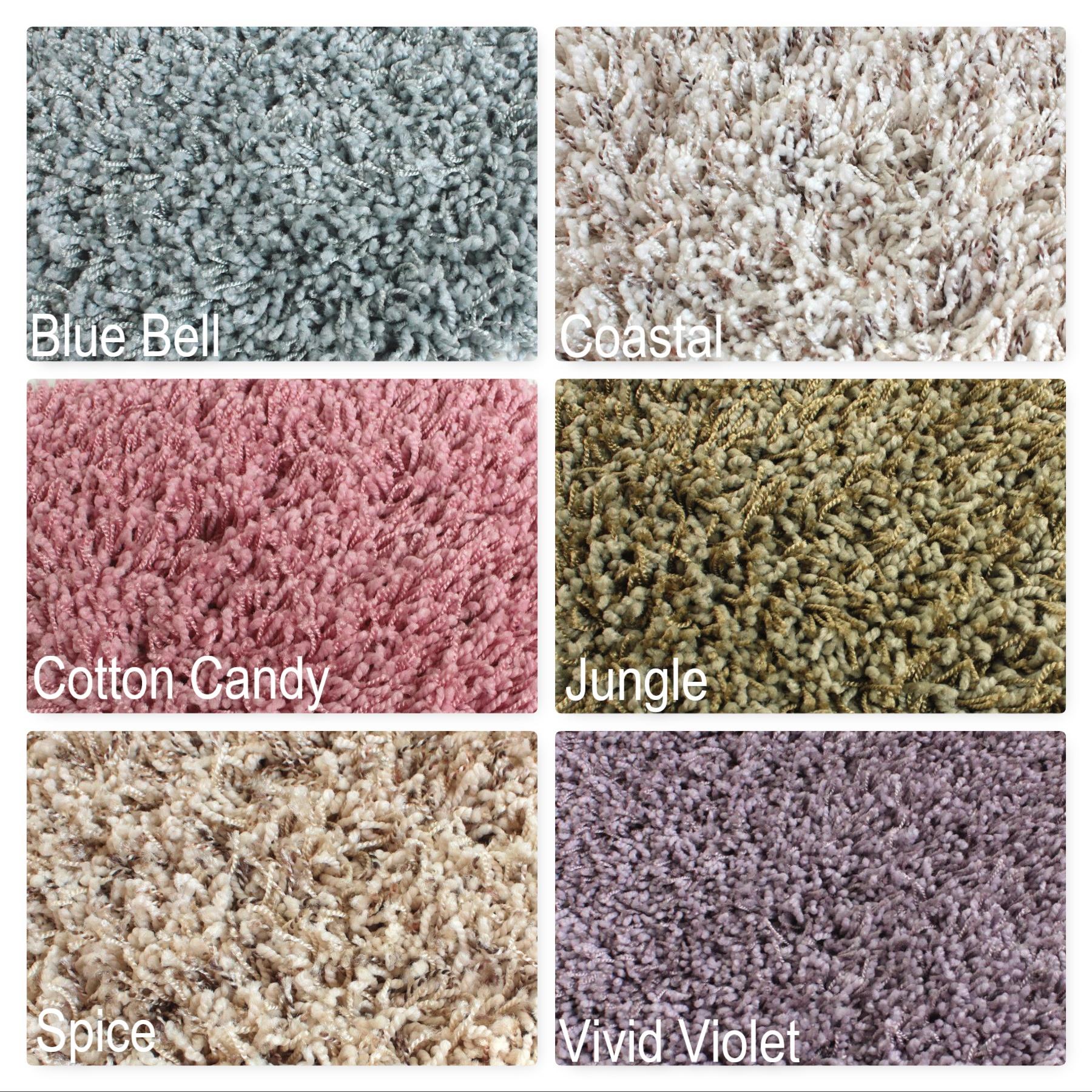 Uptown Girl Indoor Shag Carpet Area Rug Collection | 1″ Thick 63 oz Shag  Soft Indoor Carpet Area Rug Multiple Colors