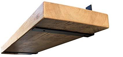 Industrial Forged Steel Floating Shelf L/J Bracket by DIY CARTEL - Heavy  Duty Rustic