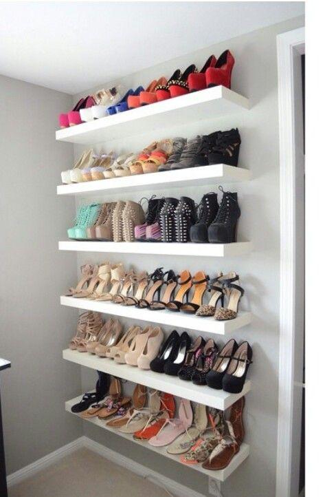 Ideas para organizar zapatos Shoe Racks, Shoe Rack In Closet, Shoe Closet  Organization,