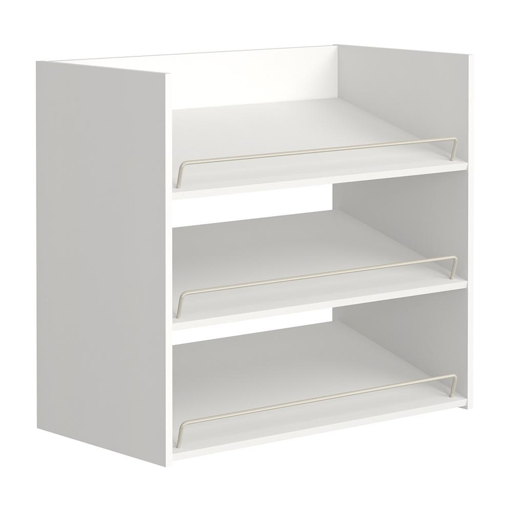 ClosetMaid Impressions 3-Shelf White Shoe Organizer