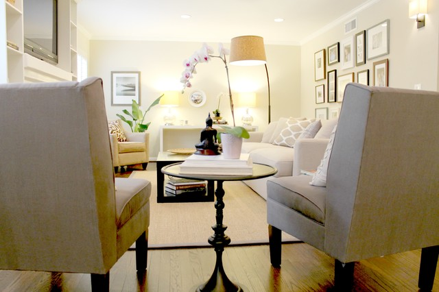 Pair Of Grey Side Chairs Transitional Living Room Los Angeles Modern Side  Chairs For Living Room