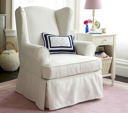 Download wingback chair slipcovers white