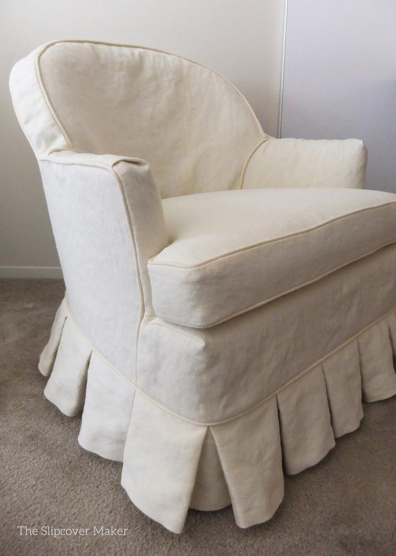 Custom Hemp Slipcovers Update Old Chairs
