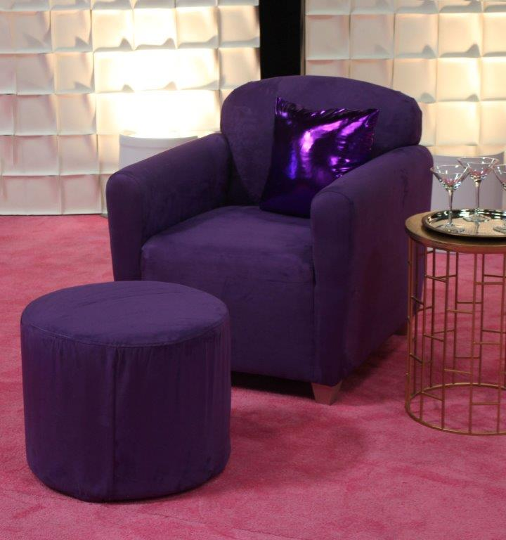 Purple Rain Arm Chair & Small Ottoman