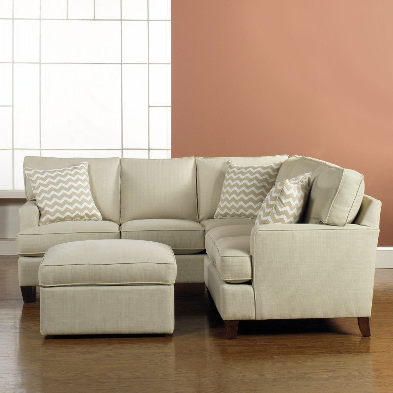 High legged corner sofa for small spaces