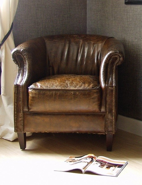 Small Leather Armchair