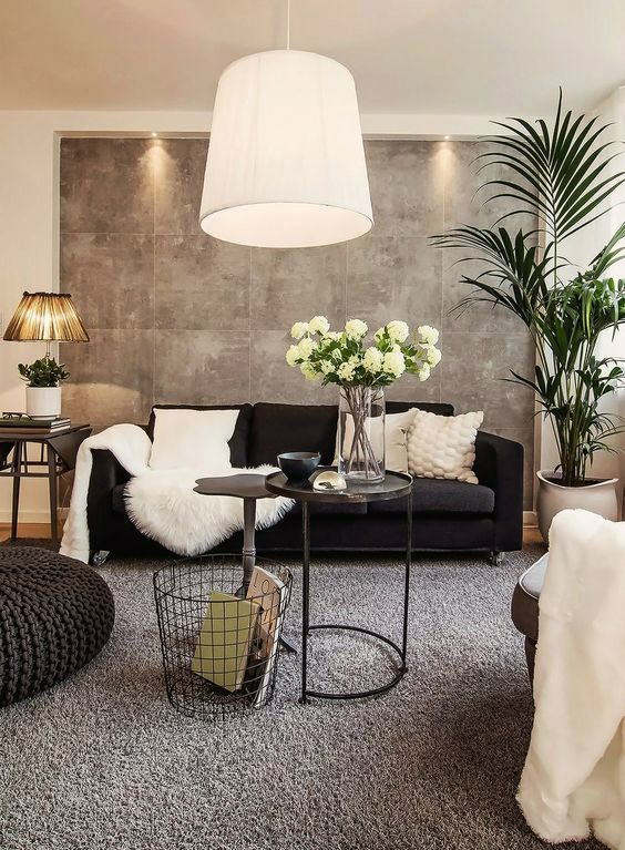 48 Black and White Living Room Ideas | 3. Interior design and space | Living  room decor, Living room white, Living room interior