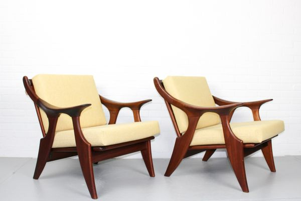 Small Lounge Chairs by De Ster Gelderland, 1950s, Set of 2 1