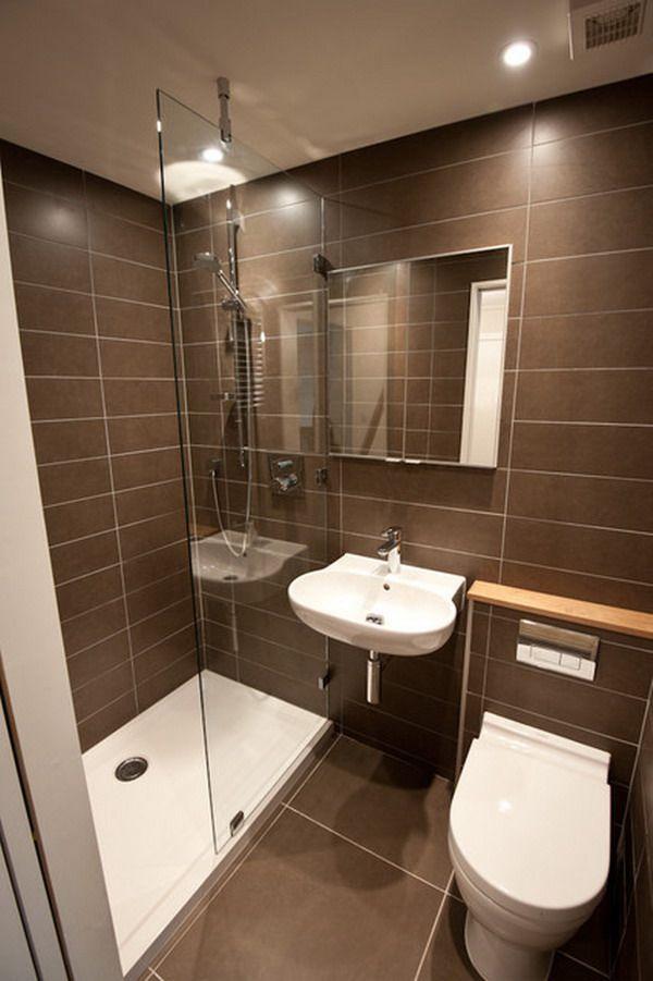 25 Bathroom Ideas For Small Spaces   Small Bathrooms   Bathroom design small,  Small shower room, Tiny bathrooms
