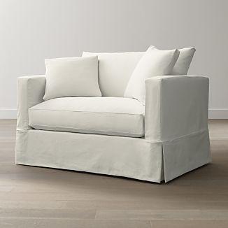 Slipcover Only for Willow Modern Slipcovered Twin Sleeper Sofa