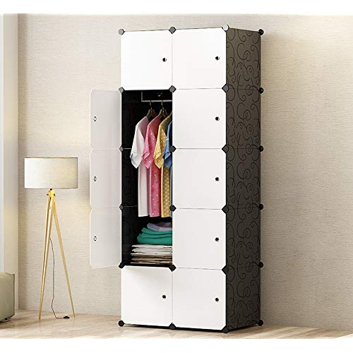 PREMAG DIY Portable Wardrobe Closet, Modular Storage Organizer, Space  Saving Armoire, Deeper Cube