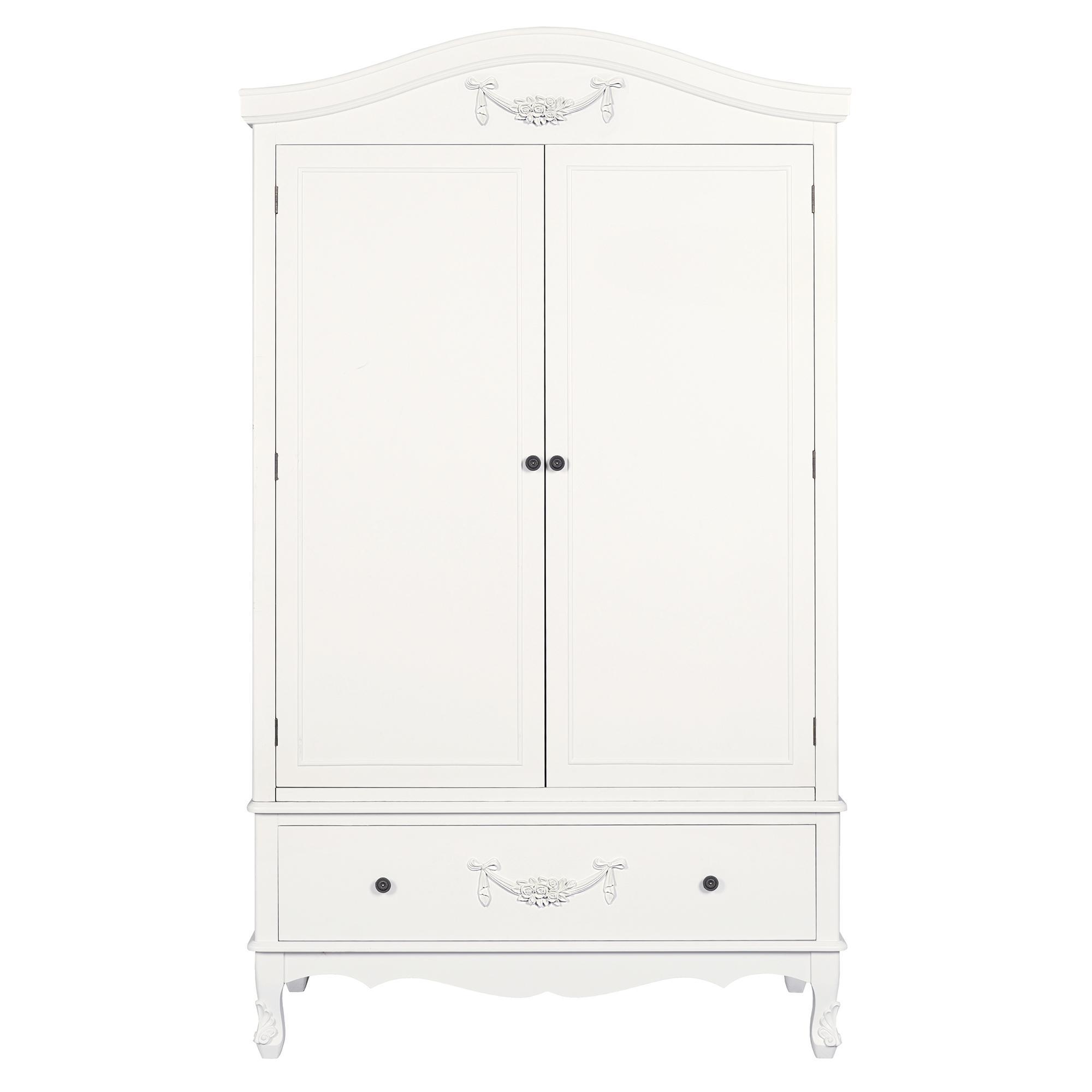 Toulouse White Double Wardrobe. loz_exclusive_to_dunelm