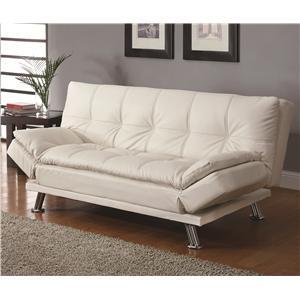 Sofa Beds and Futons Contemporary Styled Futon Sleeper Sofa with Casual  Seam Stitching | Rotmans | Sleeper Sofas