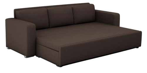 Domino 3 Seater Sofa cum Bed with Storage in Coffee Color