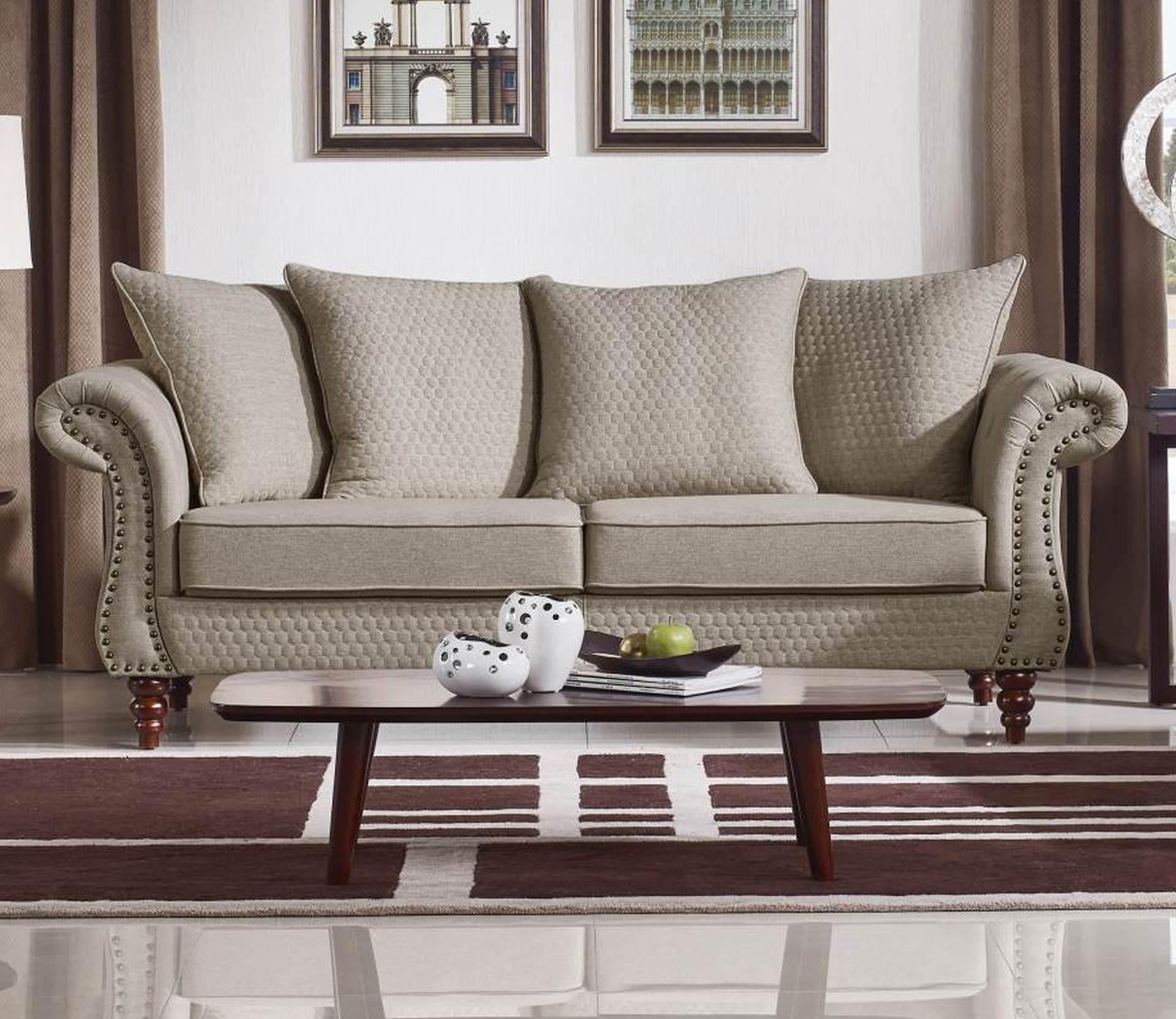 Tessa Designer Sofa – Fabric Code # K06 Sand