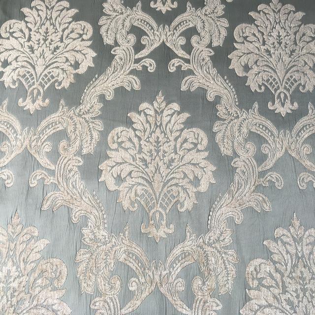 Sofa Fabric Plain dyed Damask Pale Blue Soft Chenille Headboard Bag  Garments Curtain Heavy Fabrics Width