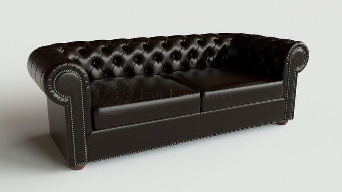 chester sofa lounge type2-2 high poly 3d model obj mtl fbx blend dae 1