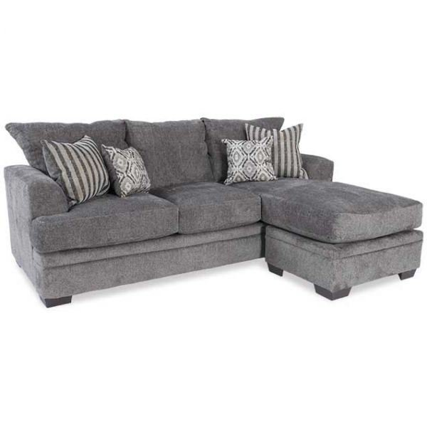 Picture of Cornell Pewter Sofa With Chaise