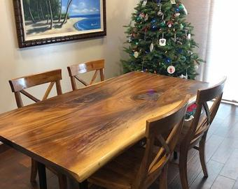 Acacia solid Wood Dining Table