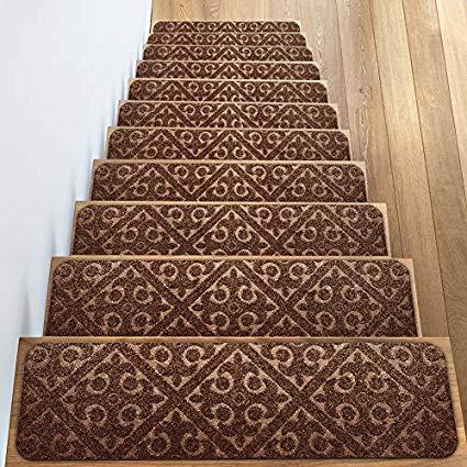 Elogio Carpet Stair Treads Set of 13 Non Slip/Skid Rubber Runner Mats or  Rug Tread