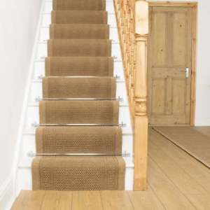 Image is loading Aztec-Beige-Stair-Carpet-Runner-For-Narrow-Staircase-