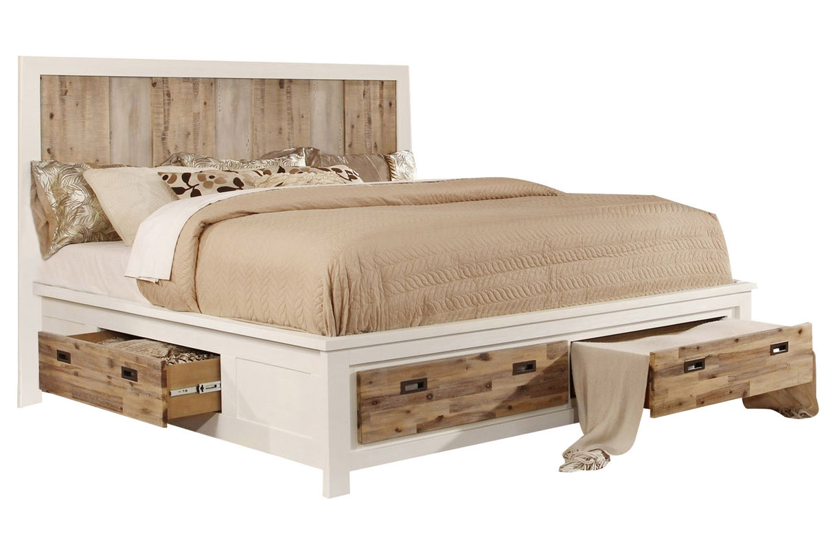 Western Queen Bed with Storage from Gardner-White Furniture
