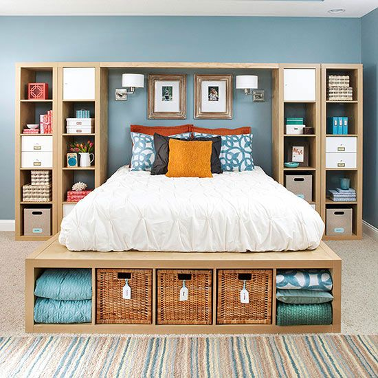 Get DIY ideas to increase storage and organize your master bedroom!