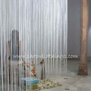 Beaded Curtains, Fringe Panels, Orange String Curtains - Traveller Location