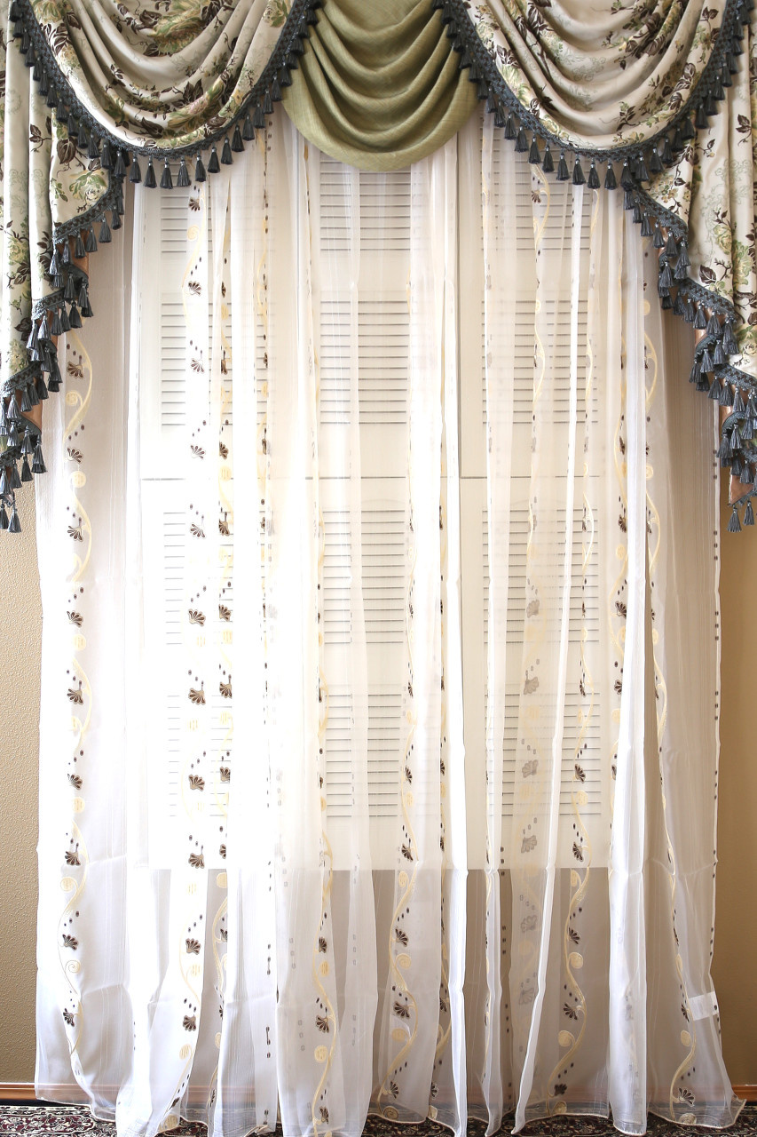 Picture of Appalachian Spring - Classic Overlapping Swag Valance Curtains