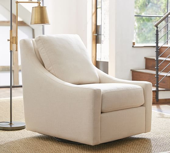 Aiden Upholstered Swivel Armchair