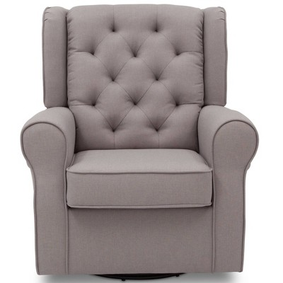 Delta Children Emma Nursery Glider Swivel Rocker Chair - French Gray :  Target