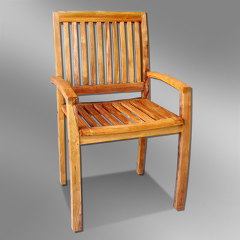 Modern Outdoor Teak Chair - Sumatra Design