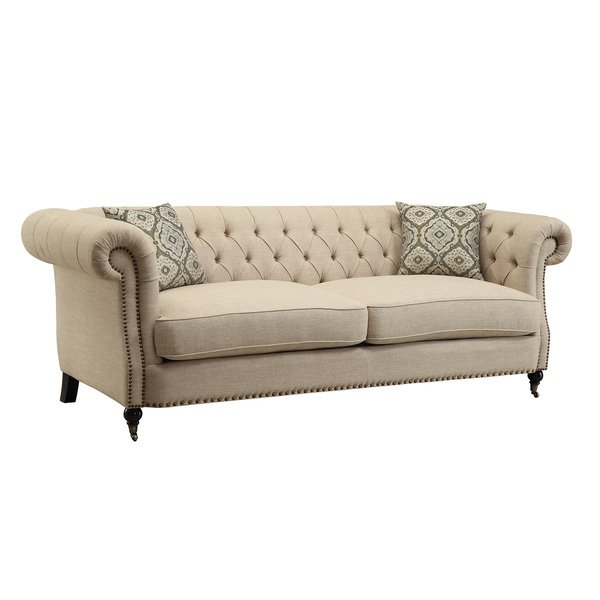 Shop Beige Traditional Sofa/ Loveseat - Free Shipping Today - Overstock -  12529386