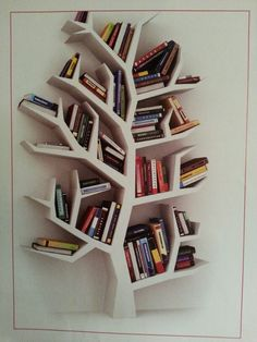Book tree Tree Bookshelf, Tree Shelf, Tree Book Shelves, Wall Bookshelves,  Bookshelf